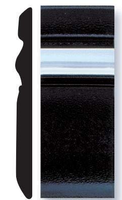 50 Feet Trim-Gard 2 5//8 Black /& Chrome Embossed Body Side Molding