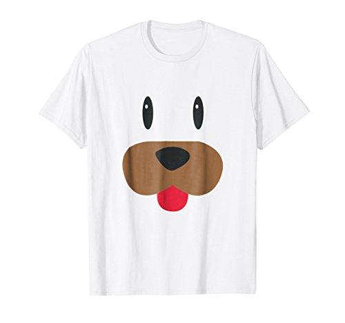Puppy Dog Emoji Face Halloween Costume Shirt -