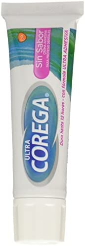 Corega Ultra Sin Sabor Crema Adhesiva Para Prótesis Dentales, 40 G, Pack of 1