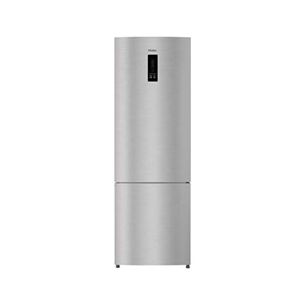 Haier 345 L 2 Star Inverter Frost-Free Double Door Refrigerator (HRB-3654PIS-E, Inox Steel, Bottom Freezer) 2021 August Frost-free Double door refrigerator with Twin Inverter Technology-ensures that the compressor & fan can run at different speeds Capacity: 345 litres suitable for a medium sized family. Energy rating: 2 star, Annual energy consumption: 270 per year