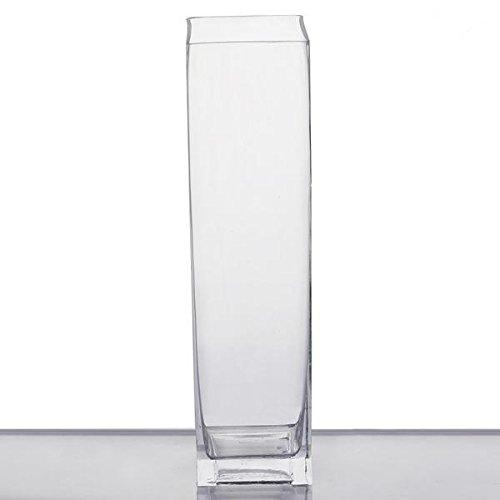 Square Glass Centerpiece Vase -1PC ()