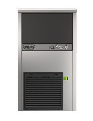 Eurodib CB249A Undercounter Ice Cube Maker with Bin by Brema all Stainless steel and air cooling system self-contained with Production up to 62 lbs./24