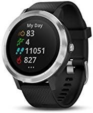 Garmin 010-01769-01 Vivoactive 3, GPS Smartwatch with Contactless Payments and Built-In Sports Apps, Black with Silver Hardware 31mLoZSTO0L