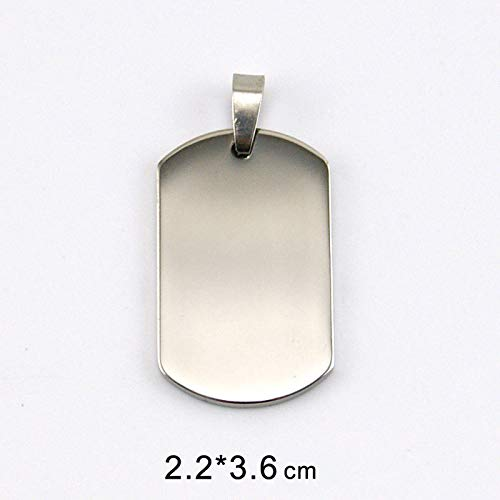 Amazon.com: Davitu 100% Stainless Steel Blank Dogtags for ...