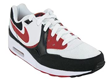Nike - Air Max Light Homme, Blanc (Blanc/Noir/Rouge),