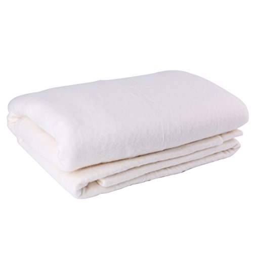 Tosnail 2 Pack 45-Inch x 60-Inch Soft Natural Cotton Batting for Quilts, Craft and Wearable Arts ()