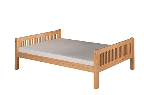 Camaflexi Mission Style Solid Wood Platform Bed, Full, Natural (Frame Mission Daybed)