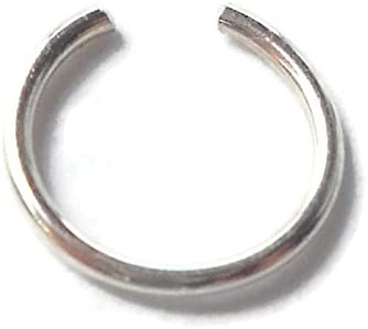 Fake Piercing Faux Piercing Nose Cuff Sterling Silver Ear Cuff