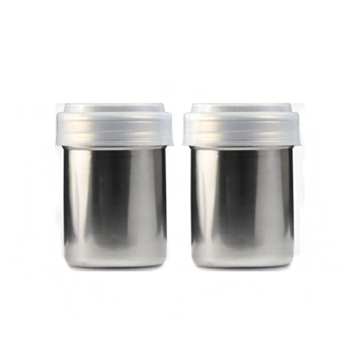 Neeshow Stainless Steel Chocolate Shaker Icing Sugar Powder Cocoa Flour Coffee Sifter Cooking Tools Lid Chocolate Shaker Cocoa(2-Pieces) ()
