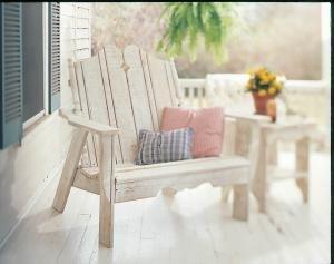 Uwharrie Chair N153 Nantucket Settee Rocker - White (Collection Rocker Settee)