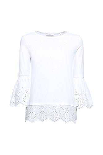 Maniche Lunghe Bianco white By A Maglia 100 Donna Esprit Edc vIqZW