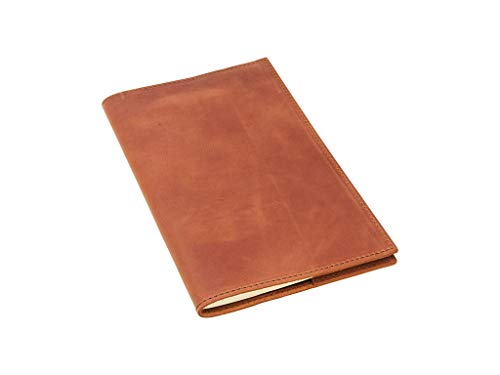 - Leather Journal Refillable with Lined Pages for Man and Woman Comes with Moleskine Cahier Notebook 5 x 8.25 Handmade in USA from Top-Grain Leather of Chestnut Color