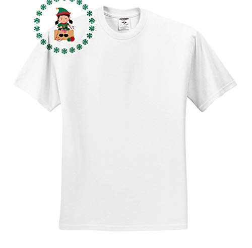 3dRose TNMGraphics Christmas - Girl Elf with Ornaments - T-Shirts - White Infant Lap-Shoulder Tee (18M) -