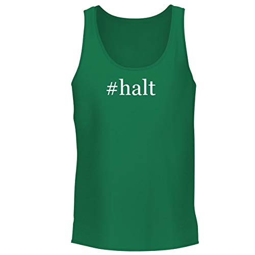 (BH Cool Designs #halt - Men's Graphic Tank Top, Green, XX-Large)