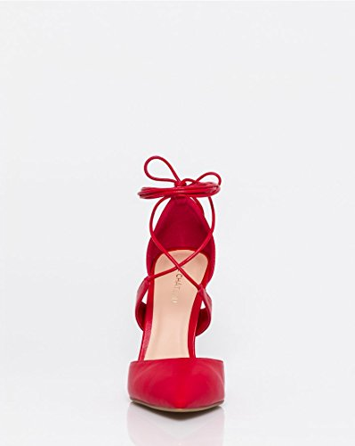 High Red up Pump LE Lace Women's Pointy CHÂTEAU Toe Heel zqwwUES