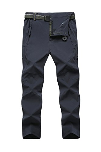 Cranelin Mens Outdoor Hiking Pants Breathable Quick Dry Mountain Pants