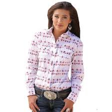 2ca1ea2a5f8b37 Cinch Women's Long Sleeve Arena Fit Red Print Western Shirt (X-Small ...