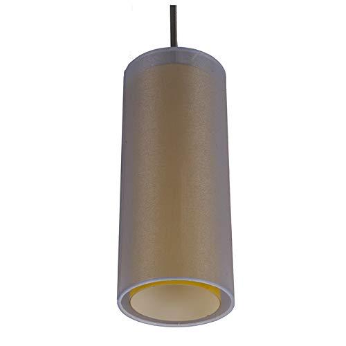 Sunpark Electronics LED Mini Pendant, 19 Watt GU24 LED Bulb, 820 Lumen, 3000 Kelvin, Satin Nickel, Amber Glass & Silver Organza, 5.1