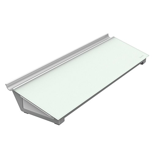 "Quartet Glass Dry Erase Computer Pad, Desktop, 18"" x 6"", White Surface, Frameless Whiteboard / White Board (GDP186)"