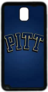 NCAA Pittsburgh Panthers Samsung Galaxy Note 3 N9000 Case, Soft Material TPU Black Skin Protector Cover DIY by Hahashopping