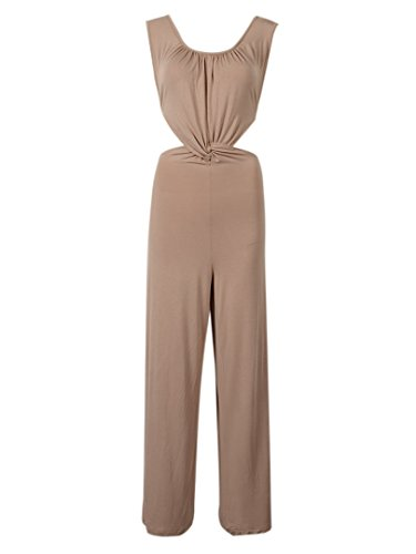 Choies Womens Backless Jumpsuit Playsuit
