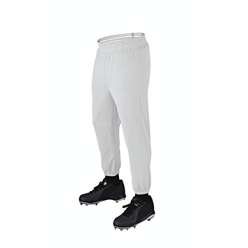 Wilson Youth Basic Poly Double Knit P100 Baseball Pants (White, X-Large)