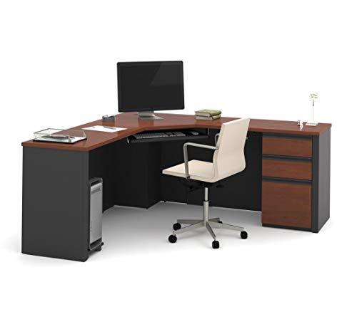 (Bestar Corner Desk with Pedestal - Prestige Plus)