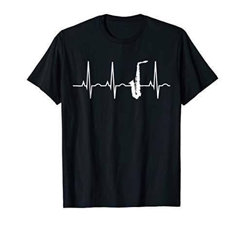 Saxophone Player Shirt - Saxophone Heartbeat T-Shirt