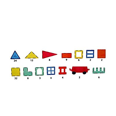 #1 STRONG - 120 Piece Magnetic Building Tiles Set for Kids - Magna Toy Blocks for Educational and Learning - Perfect gift for Boys or Girls