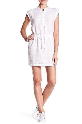 James Perse Linen Drawstring Waist Dress, White (2 / Medium) ()