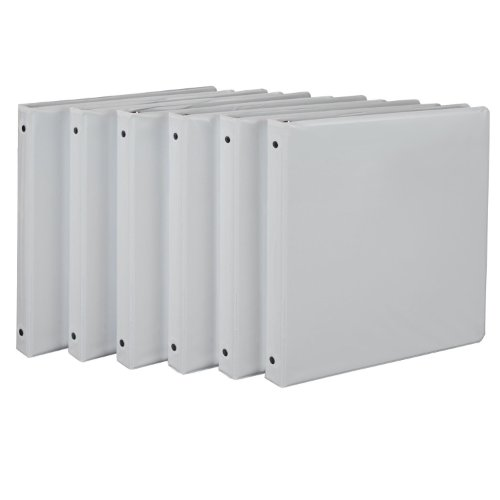 Samsill 1/2-Inch Value View Binder, White, 6 Pack