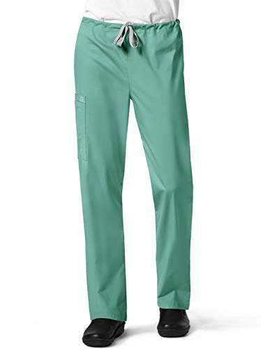 WonderWink Unisex-Adult's Drawstring Cargo Pant, Surgical Green, X-Small