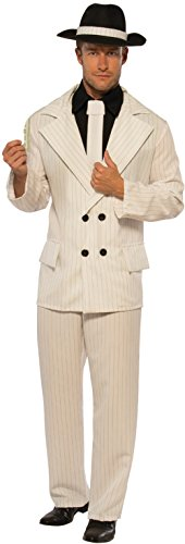Pizazz! Men's Adult The Boss Costume, White/Black, Standard]()