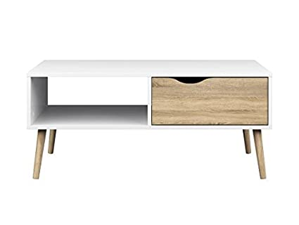 Attractive Tvilum 7538449ak Diana Coffee Table, White Oak