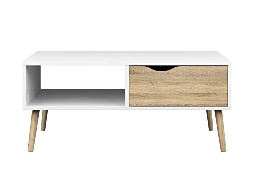 Danish Modern Coffee Table - Tvilum 7538449ak Diana Coffee Table, White Oak