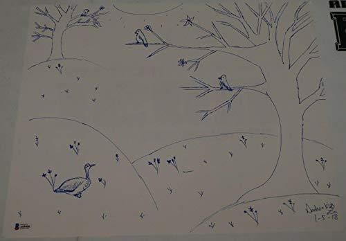 Andrea KGB Lee Signed 14x17 Hand Drawn Sketch BAS Beckett COA UFC MMA Autograph - Beckett Authentication