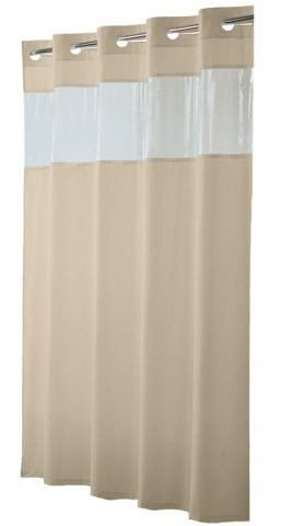 Amazoncom Viewtop Fabric Shower Curtain Hookless Beige With