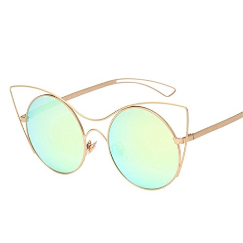 HANYI-Round Retro Polaroid Sunglasses Unisex Cat Eyes Aviator Mirror Lens Sunglasses - Prescription Glasses Polaroid