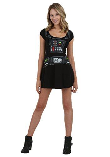Star Wars I Am Darth Vader Movie Mighty Fine Juniors Costume Skater Dress -