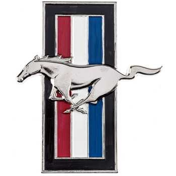 Ford MUSTANG Horse Pony Grill Emblem Wall Coat Hat Key Hook MAN CAVE Great Father's Day Gift (Switchplate 66 Route)