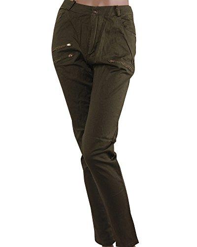 Verte Mince Taille Moulant Droit Haute Pantalon Arme ZhuiKun Femme Leggings q6wzIKt