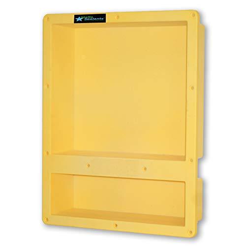 "Shower Niche Double Shelf 20""x16"" Ready For Tile - Waterproof Leak Proof Bathroom Recessed Shower Shelf Niche - Organiser Storage For Shampoo and Toiletry Storage from Stella Sealants"