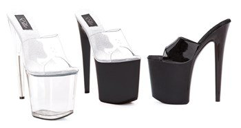 (Ellie Shoes 850-VANITY 8 Inch Heel Sandal (Clear;7))