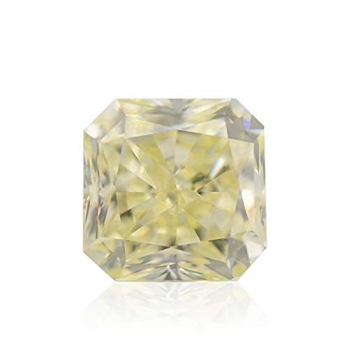 0.52Cts V-W, Light Yellow Loose Diamond Natural Color Radiant Cut IGI Cert ()