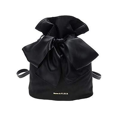 eb66aeecdbd4 Amazon.co.jp: メゾン ド フルール(Maison de FLEUR) 巾着リボンリュック【ブラック/F】: シューズ&バッグ