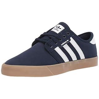 adidas Originals Men's Seeley Sneaker, Collegiate Navy/White/Gum, 4 M US