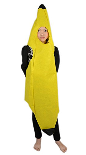 La Vogue Children Halloween Cosplay Costume Fruits Funny Suit Banana