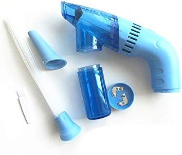 LMJI Mini Limpiador de Polvo con aspiradora, portátil, portátil, sin Cable, removedor de Suciedad, Azul