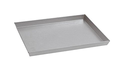 Paderno World Cuisine 15 3/4 Inch by 11 7/8 Inch by 1 1/8 Inch Splayed Sided Aluminized Steel Baking Sheet by Paderno World Cuisine