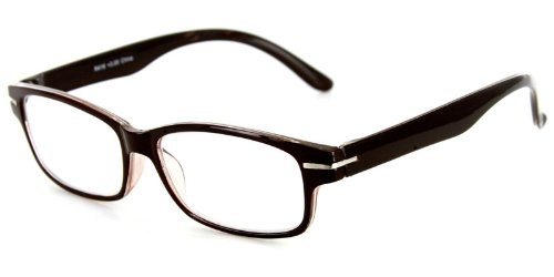 Explorer Fashion Reading Glasses with Slim Italian Design for Youthful, Stylish Men and Women (Brown +2.50) -